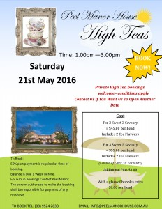 High Teas 21st May 2016